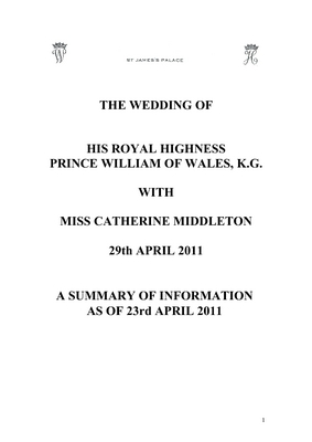 Product picture  Royal Wedding Guest List and Schedule of Events.pdf